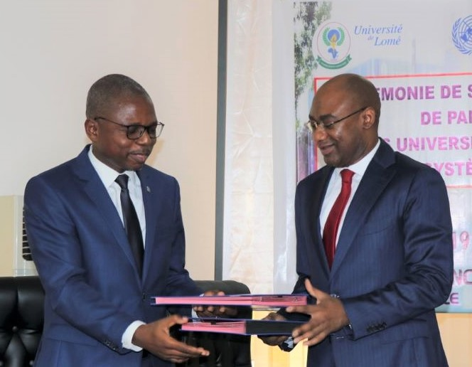 Partenariat inédit entre les Nations Unies et les universités publiques du Togo