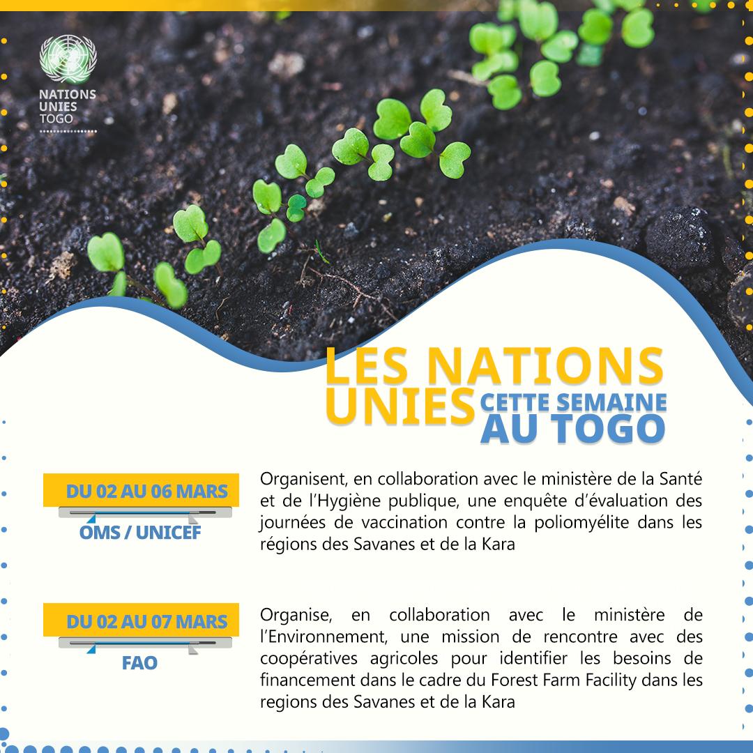 Les Nations Unies cette semaine au Togo