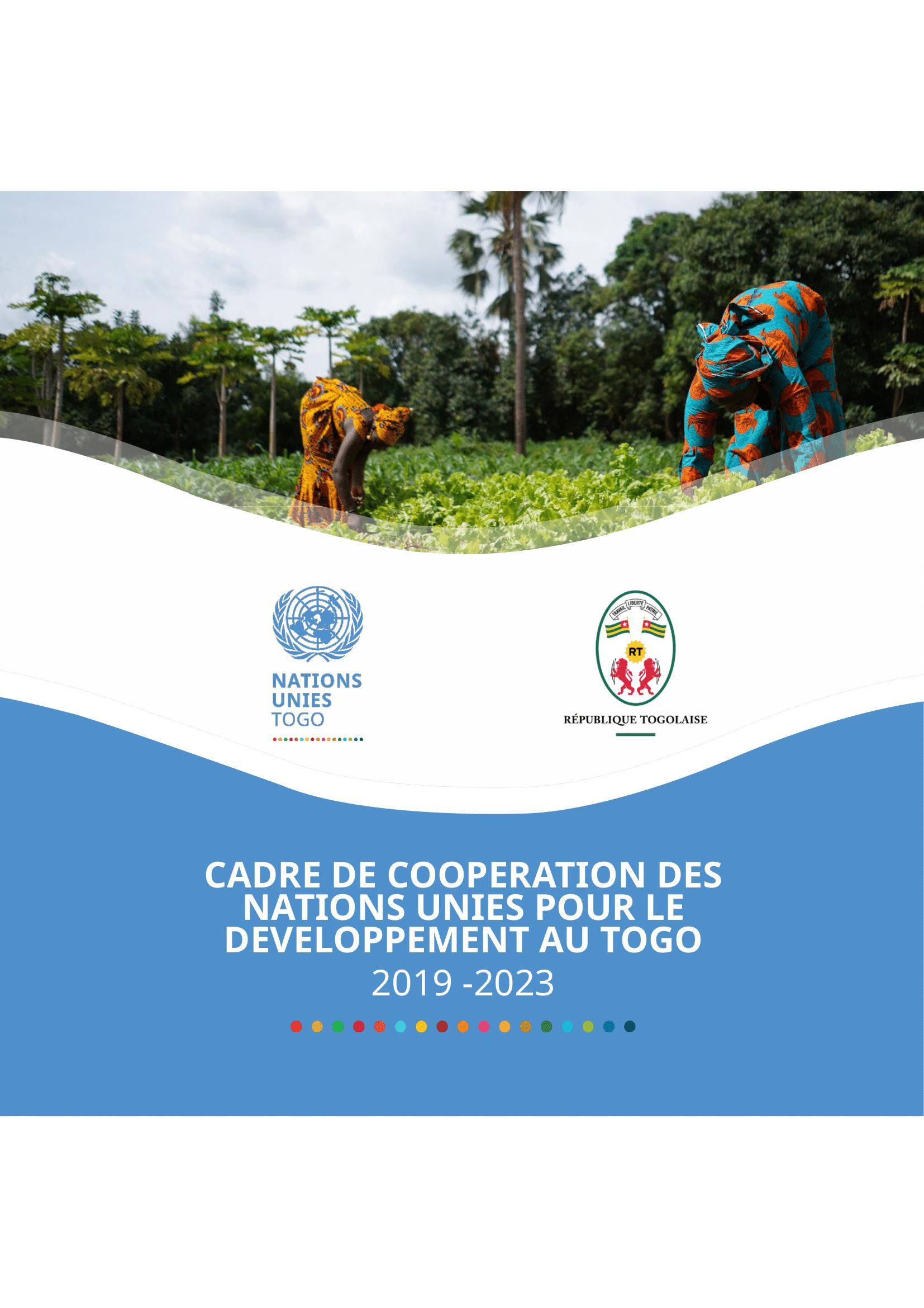 Cadre de coopération pour le développment du Togo 2019-2023