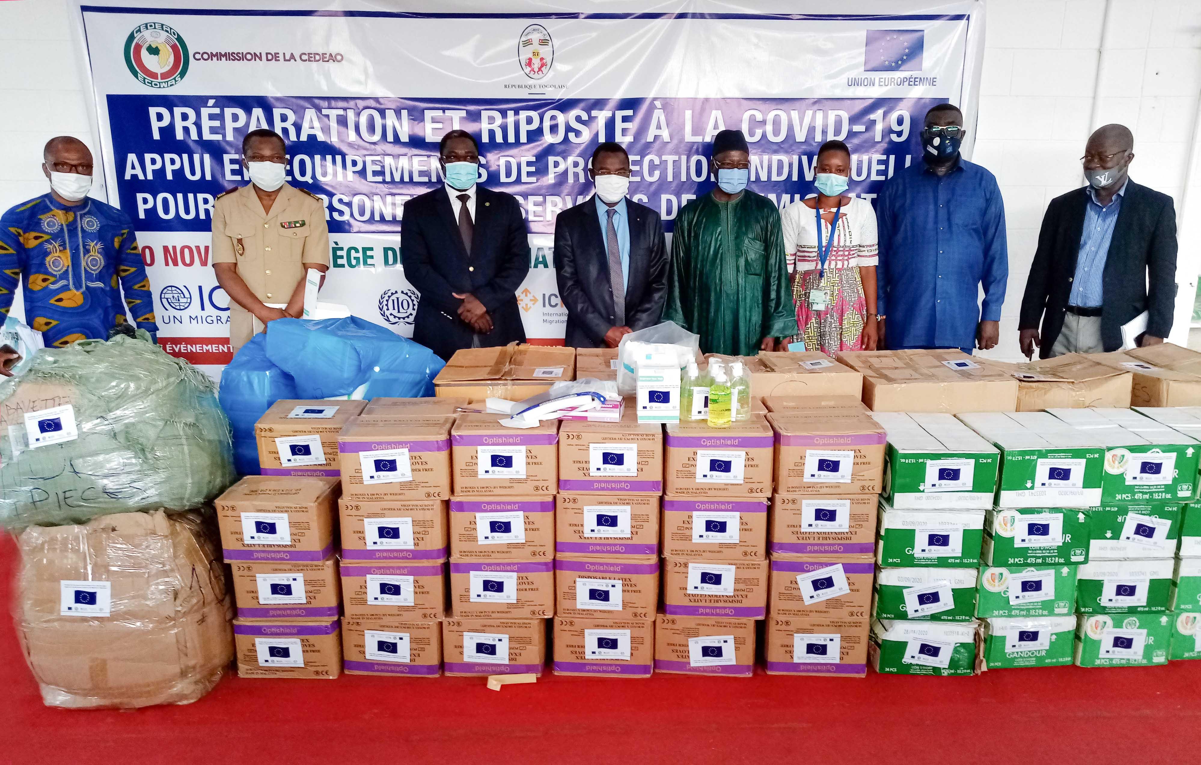 L'OIM équipe les agents transfrontaliers du Togo