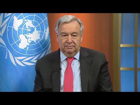 Face au Covid-19, ennemi implacable, le chef de l'ONU appelle à un cessez-le-feu mondial